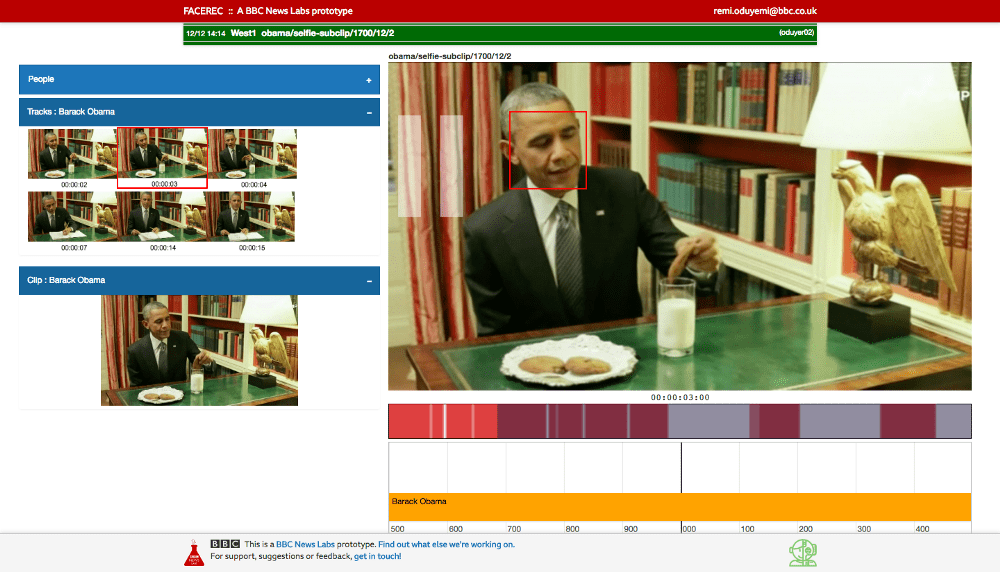 Screenshot of user interface with videos